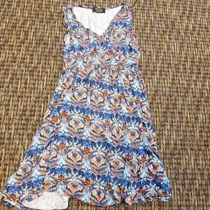 Multi colored mid thought tank dress